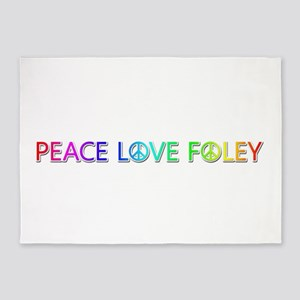 Peace Love Foley 5'x7' Area Rug