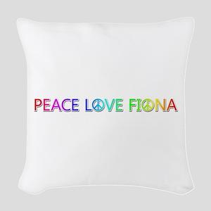 Peace Love Fiona Woven Throw Pillow