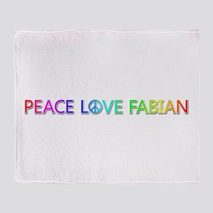 Peace Love Fabian Throw Blanket