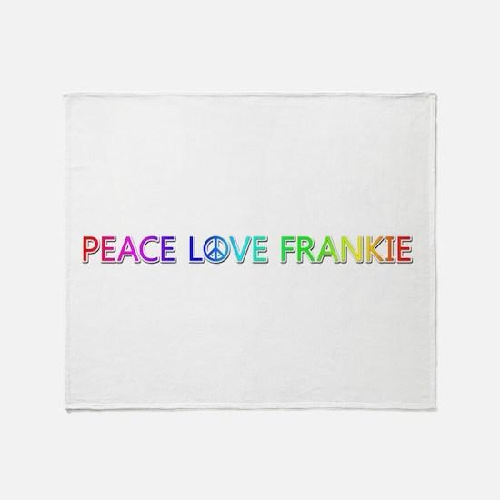 Peace Love Frankie Throw Blanket