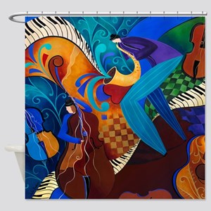 Music Theme Shower Curtain By Juleez
