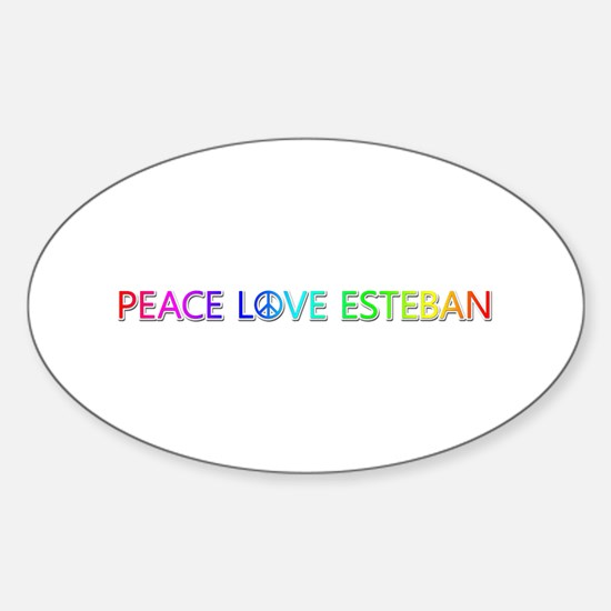Peace Love Esteban Oval Decal