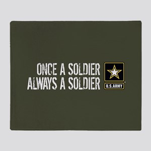 U.S. Army: Once a Soldier (Military Throw Blanket