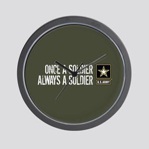 U.S. Army: Once a Soldier (Military Gre Wall Clock