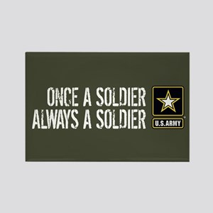 U.S. Army: Once a Soldier (Milita Rectangle Magnet
