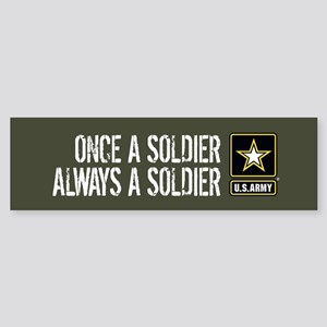 U.S. Army: Once a Soldier (Milita Sticker (Bumper)