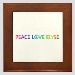 Peace Love Elyse Framed Tile