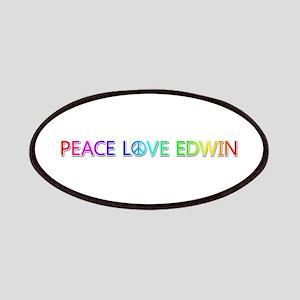 Peace Love Edwin Patch