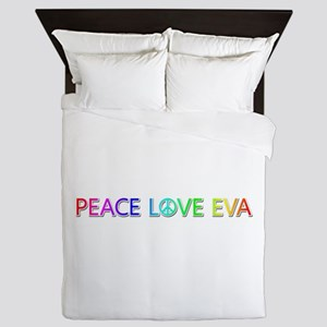 Peace Love Eva Queen Duvet