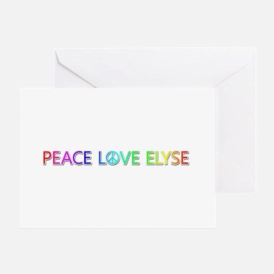 Peace Love Elyse Greeting Card