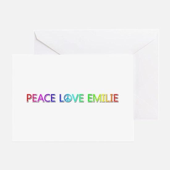 Peace Love Emilie Greeting Card