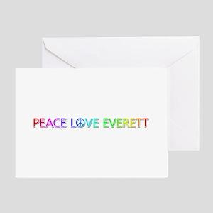 Peace Love Everett Greeting Card