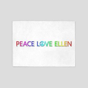 Peace Love Ellen 5'x7' Area Rug