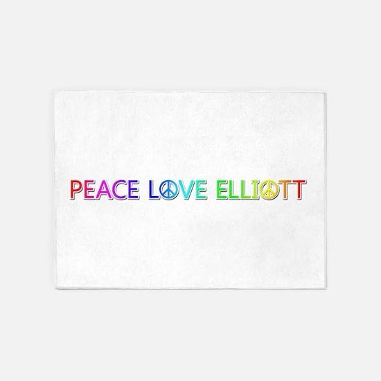 Peace Love Elliott 5'x7' Area Rug