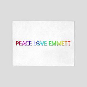 Peace Love Emmett 5'x7' Area Rug
