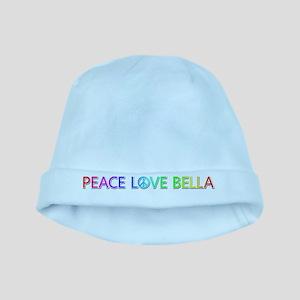 Peace Love Bella baby hat