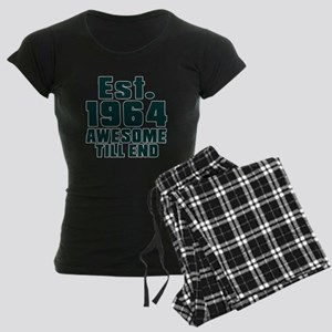 Est. 1964 Awesome Till End B Women's Dark Pajamas