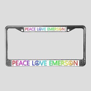Peace Love Emerson License Plate Frame