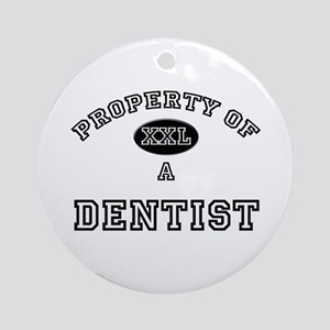 Property of a Dentist Ornament (Round)