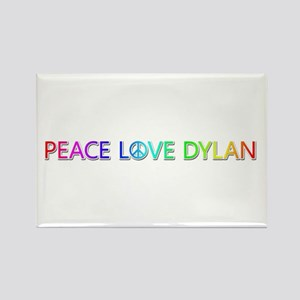 Peace Love Dylan Rectangle Magnet