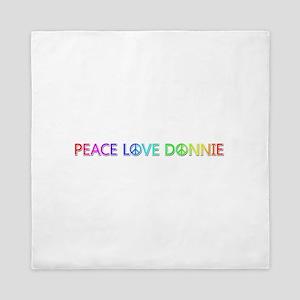 Peace Love Donnie Queen Duvet