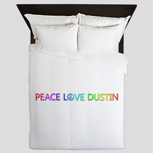 Peace Love Dustin Queen Duvet