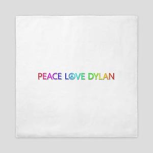 Peace Love Dylan Queen Duvet