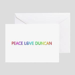 Peace Love Duncan Greeting Card