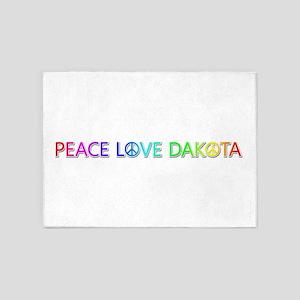 Peace Love Dakota 5'x7' Area Rug