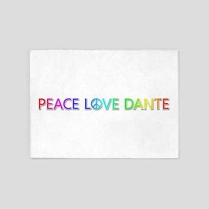 Peace Love Dante 5'x7' Area Rug