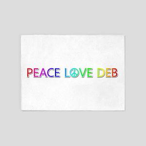 Peace Love Deb 5'x7' Area Rug