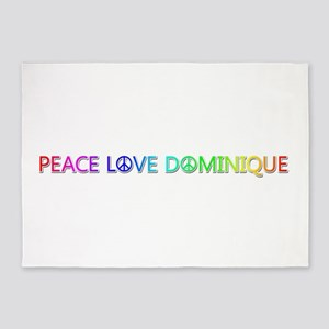 Peace Love Dominique 5'x7' Area Rug