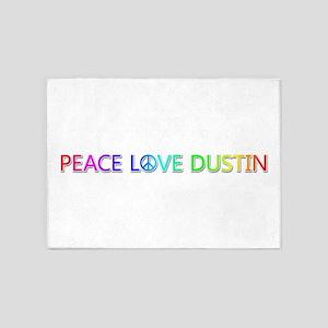 Peace Love Dustin 5'x7' Area Rug