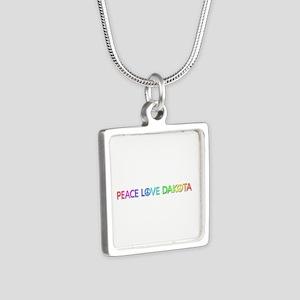 Peace Love Dakota Silver Square Necklace