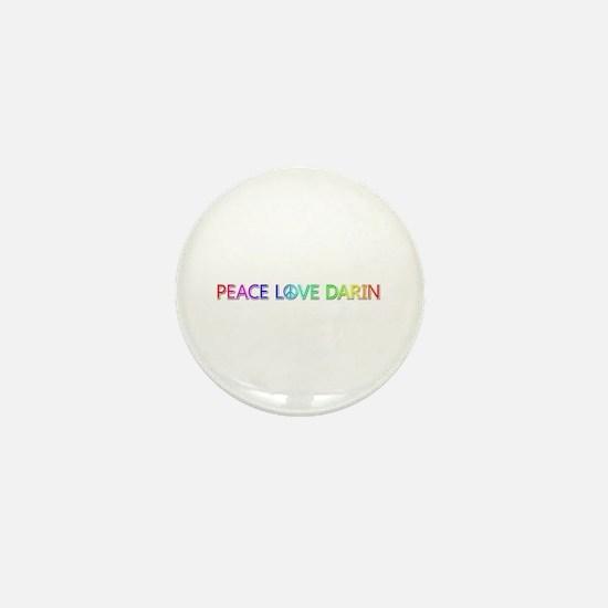 Peace Love Darin Mini Button