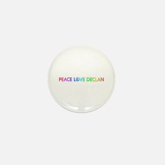 Peace Love Declan Mini Button