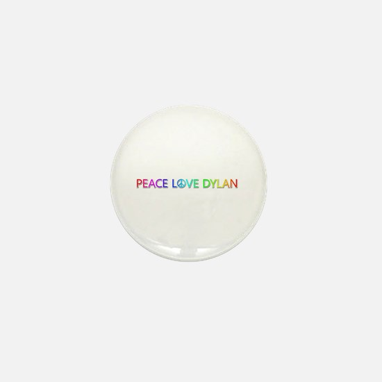 Peace Love Dylan Mini Button