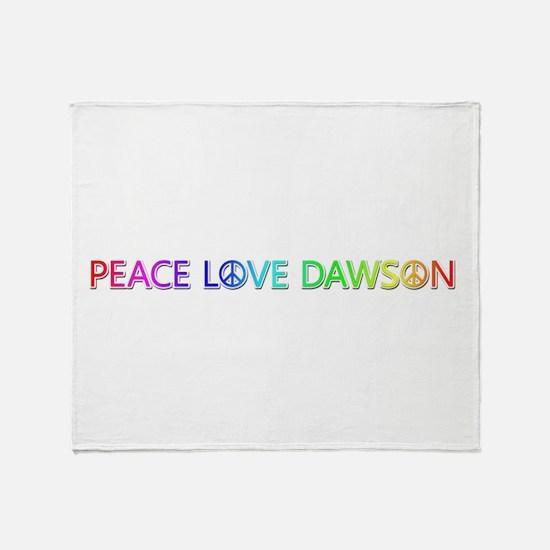 Peace Love Dawson Throw Blanket