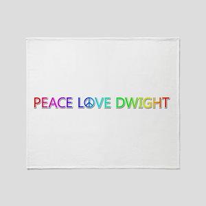 Peace Love Dwight Throw Blanket