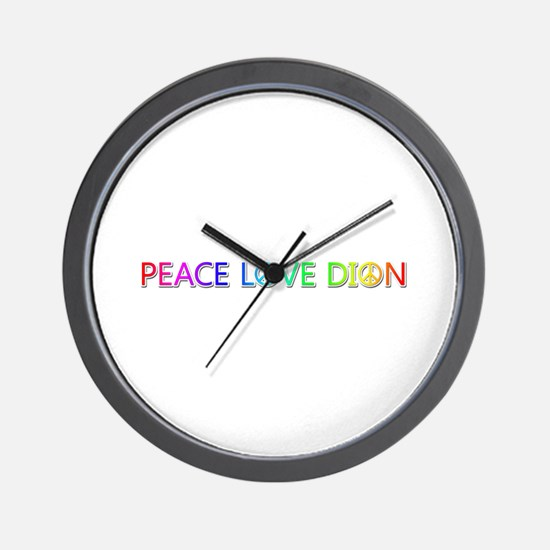 Peace Love Dion Wall Clock