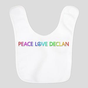 Peace Love Declan Bib