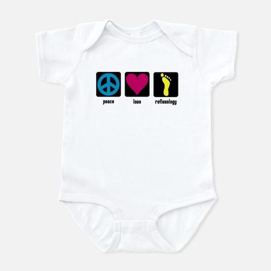 Peace, Love, Reflex Infant Bodysuit