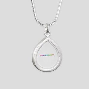Peace Love Dakota Silver Teardrop Necklace