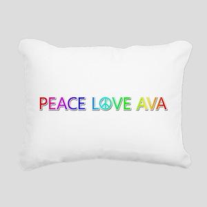 Peace Love Ava Rectangular Canvas Pillow