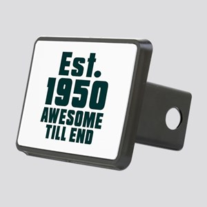 Est. 1950 Awesome Till End Rectangular Hitch Cover