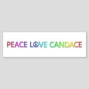 Peace Love Candace Bumper Sticker