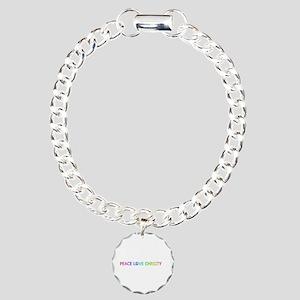 Peace Love Christy Charm Bracelet