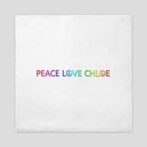 Peace Love Chloe Queen Duvet