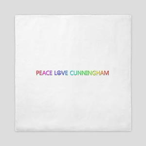 Peace Love Cunningham Queen Duvet