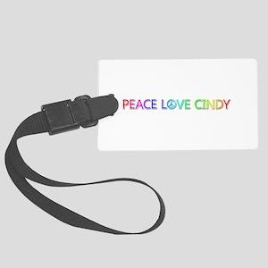 Peace Love Cindy Large Luggage Tag